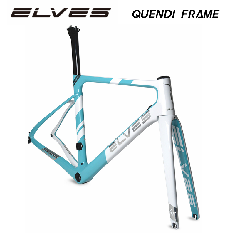 ELVES QUENDI Road Bike Frame Carbon Fiber Bicycle Frame, Frame + Fork 1520g , Aero-dynamics , Aerodynamics