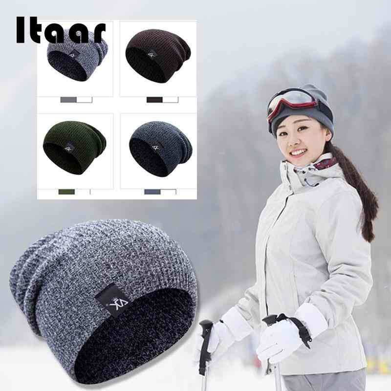 2019 בימס לסרוג כובעי חורף כפת אופנה חם כובע סקי סקי ספורט לסרוג כובע יוניסקס רכיבה על אופניים חיצוני נים חולצות כובע