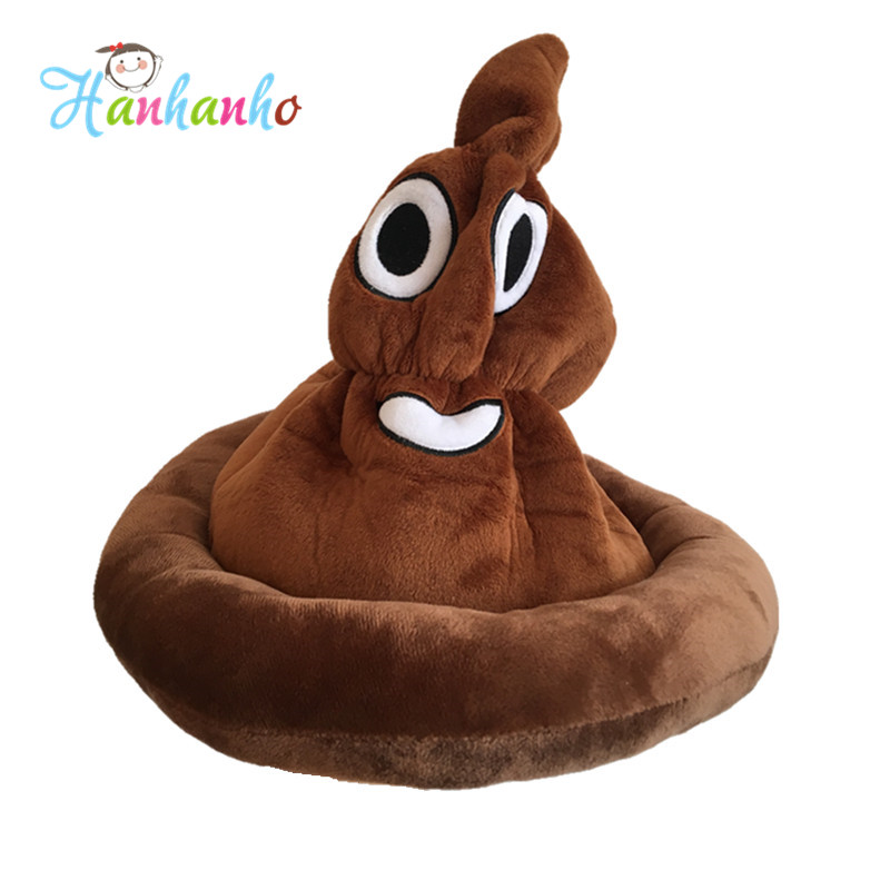 New Creative Plush Toy Emoji Poo Kids Hat Novelty Gag Toys Practical Jokes Birthday Party Funny Gift  Toy 6pcs plants vs zombies plush toys 30cm plush game toy for children birthday gift