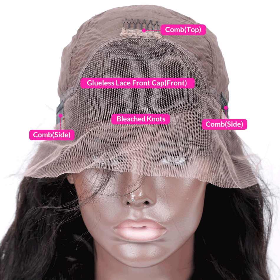 Парики из натуральных волос на кружевной основе luvin Glueless, прямые бразильские волосы remy, кружевные передние парики al для черных женщин