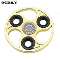 OCDAY Hot EDC Stress Relief Toys Tops Hand Spinner High Quality Metal ABS Golden Spinner Autism