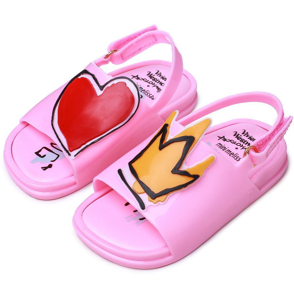 Crown and Red Heart Mini Sandals Jelly Shoe Girl Non-slip Kids Sandal Toddler  Summer Rain ShoesCrown and Red Heart Mini Sandals Jelly Shoe Girl Non-slip Kids Sandal Toddler  Summer Rain Shoes