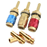 1pc Gas Water Quick Connector Water Cooled Torch For MIG TIG Welder Torch Red Circle 1pc