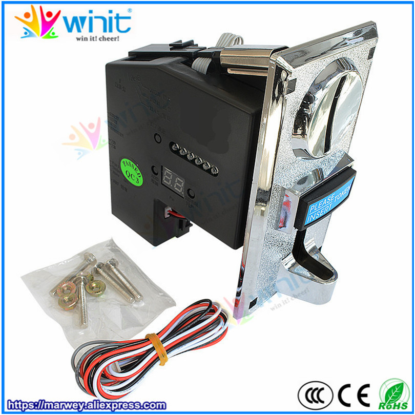 Multi Coin Acceptor CPU Programmable 6 Type Coin Validator Electronic Selector Mechanism Arcade Mech for Vending