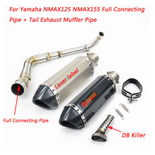 Silp on For Yamaha NMAX125 NMAX155 Motorcycle Full Stainless Steel Connecting Pipe & Tail Exhaust Muffler Pipe все цены