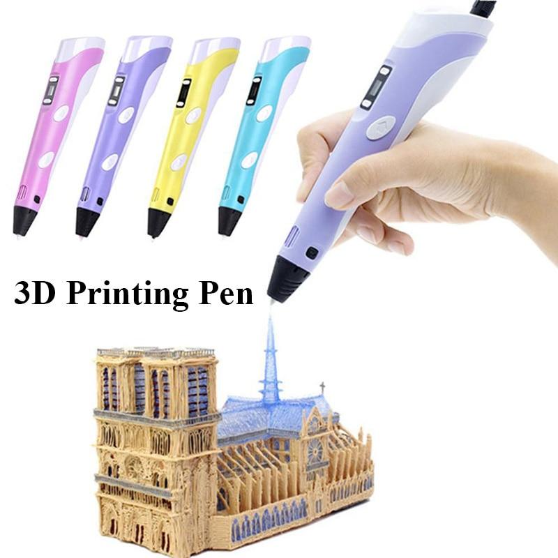 3d ручка для печати 4 цвета Abs/Pla 1St 1 75 мм светодиодный дисплей рукоделия детский