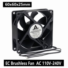 1PCS Gdstime Ball 60mm EC Fan 60x25mm 6cm AC 110V 115V 120V 220V 240V Fan 1.5W Axial Cooling Cooler Fan 220x220x60 axial ac fan ac 380v 220 220 60 20060 cooler cooling fan