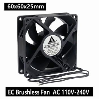 1PCS Gdstime Ball 60mm EC Fan 60x25mm 6cm AC 110V 115V 120V 220V 240V Fan 1.5W Axial Cooling Cooler Fan new original ebmpapst 8550n 80 38mm ac 220v 0 07a 12v industrial axial cooling fan