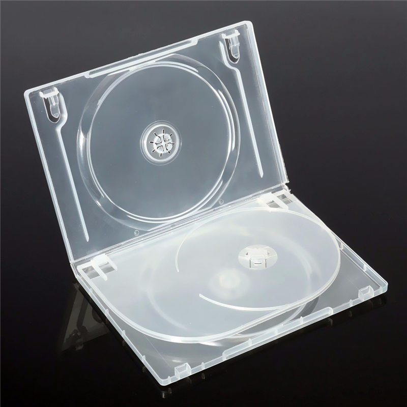 New Plastic CD Case 14mm Standard Transparent Clear DVD Hold 3 Discs CD DVD  Cases Holder Storage Hard Box Organizer With Cover In CD Bags U0026 Cases From  ...
