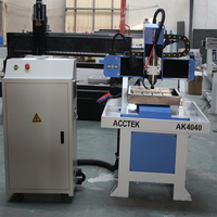 From china cutting router 4th axis rotary axis 3d art crafts engraving 400x400mm cnc mini router