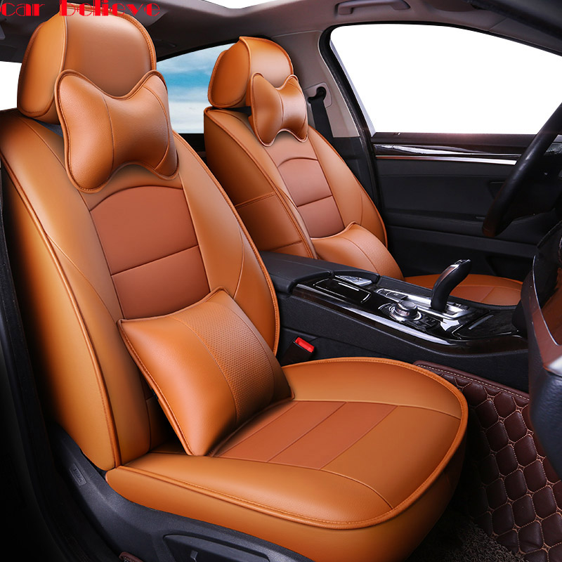 Car Believe Cowhide car seat cover For mitsubishi pajero 4 grandis asx accessories Lancer 10 Outlander covers for vehicle seat car door stopper protection cover fit for mitsubishi asx outlander lancer accessories car sticker