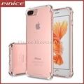 Transparente claro anti bater à prova de choque suave silicone tpu case para iphone 7 7 plus 6 6 s plus protetor capa para iphone 5 5S