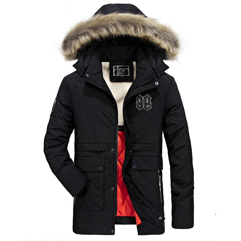 Winter Coat Men Casual Warm Windbreaker Fur Hooded Cotton Duck Jacket Mens Wnter Jackets And Cats Male Thick Overcoat Men Parka pu plus cotton thick warm short jackets men 2017 winter jacket men slim fit jackets mens coat thicker parka motorcycle overcoat