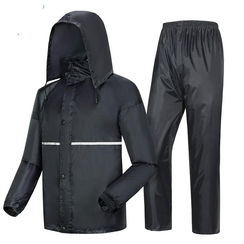 Raincoat Rain Pants Set Waterproof motorcycle rain jacket poncho Large Size fishing raincoat rainwear Men XL 4XL