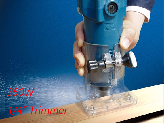 ФОТО Trimmer 6.35mm Electric Wood Trimmer 350w Electric Trimmer 1/4 inch Wood Router