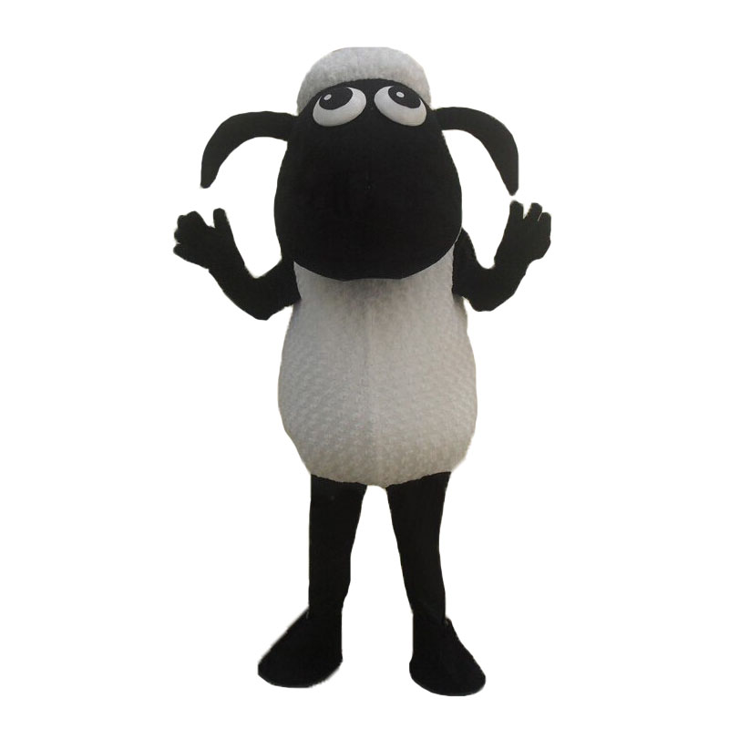 Black Sheep Lamb Mascot Costume Fancy Dress Outfit
