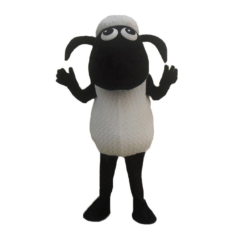 Black Sheep Lamb Mascot kostým Fancy oblečení - Kostýmy