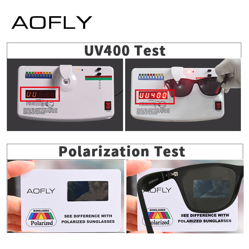 8086193883 AOFLY BRAND DESIGN Classic Polarized Sunglasses Men Women Driving Square  Frame Sun Glasses Male Goggle UV400 Gafas De Sol AF8083-in Sunglasses from  Apparel ...