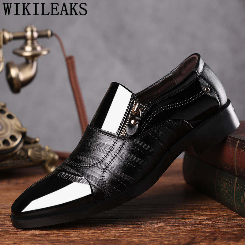 2018 black oxford shoes for men shoes formal wedding shoes leather designer mens pointed toe dress shoes oxfords zapatos-hombre pointed toe dress shoes mens patent leather black shoes wedding dress oxford shoes for men designer version luxury prom shoes
