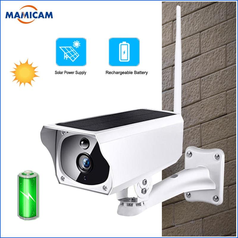 1080 P caméra solaire sans fil IP Wifi Surveillance de sécurité étanche caméra extérieure IR caméra de Vision nocturne batterie Rechargeable