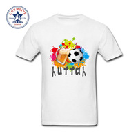 2017 New Summer Funny Tee Footballer Cotton Funny T Shirt For Men