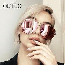 OLTLO Fashion Sunglasses Women Big Frame Men Sun Glasses Brand Design Vintage Coating Clear lens Glasses Shades Oculos De Sol