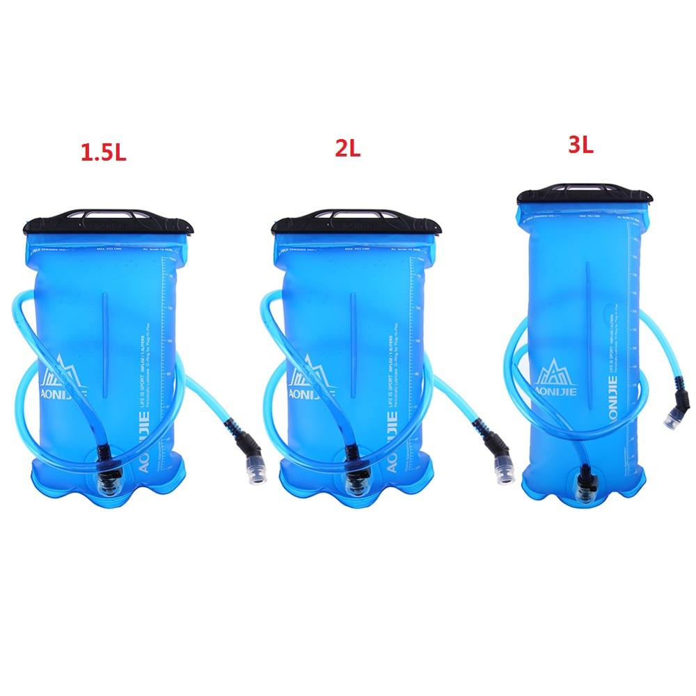 1.5L/2L/3L Foldable TPU Water Bag Outdoor Sport Hydration Bladder for Camping Hiking Climbing Water Holder Cleaner Brushes