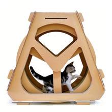 цена на Corrugated paper treadmill ferris wheel pet furniture cat scratch board grab crawling shelf rotation