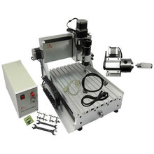 USB / Parallel port Mini CNC Engraving Machine 500W Spindle 4 Axis CNC Router Lathe Woodworking Machine