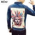 Los Hombres Chaqueta De primavera 2016 chaqueta denim Jeans Hombres Casual Chaqueta Delgada hombres hip hop Abrigos Chaquetas Para Los Hombres Tops Gran Tamaño S-5XL