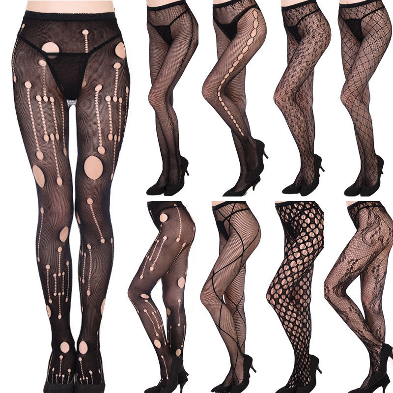 Newest Women Tights Sexy Ladies Fishnet Hole Pantyhose High Waist Female Black Tight Skinny Womens One Size Tight Woman Hosiery