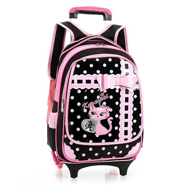 Aliexpress.com : Buy New Kids Wheels Backpack Removable Trolley ...