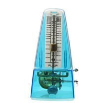 Mechanical Metronome Pyramid Traditional Piano Metronome with Bell Plastic Transparent BLUE /PURPLE/RED/CLEAR