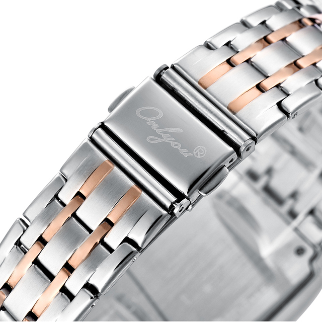 Men Watches Top Brand Luxury Square Silver Steel Band  Watch Lovers Watch Waterproof Quartz Watch Dress Womens Watches Gift Box