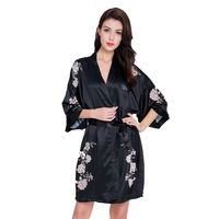Silk Bridesmaid Bride Robe Sexy Women Short Satin Wedding Kimono Robes Sleepwear Nightgown Dress Woman Bathrobe Floral robe