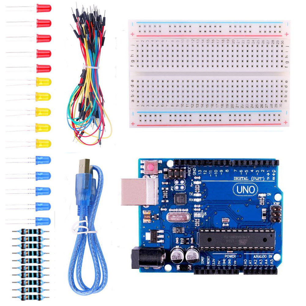 Uno Starter Kit For Arduino With Free Tutorials65 Jumper Wire Wiring Breadboard In Integrated Circuits From Electronic Components Supplies On