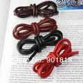 5Meters/lot Diameter 6mm Black/Brown Genuine Round Cow Leather Cord Fit Necklace Bracelet Jewelry Cord DIY Accessories Lace F593