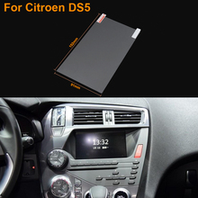 Car Styling 7 Inch GPS Navigation Screen Steel Protective Film For Citroen DS5 Control of LCD Screen Car Sticker