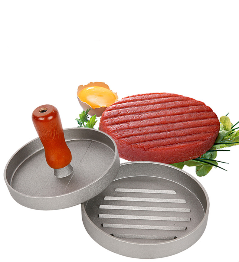 Hamburger pressure Aluminum Alloy Non-stick Round Shape patties Meat Beef pressure molds cooker kitchen gadgets kitchen toolsHamburger pressure Aluminum Alloy Non-stick Round Shape patties Meat Beef pressure molds cooker kitchen gadgets kitchen tools
