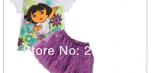 Hot Sale ! New Arrival!Dora Tutu Dress  In Stock  Fast Shipment  Children Party Dress 8pcs/LOT Wholesale Infant Garmemt