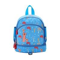 Cute anti lost Kid Toddler School Bags blue Backpack Kindergarten Children Girls Boys School Bag 3D Cartoon Animal Bag wholesale