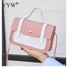 YYW Women Bags Casual Handbags Small Crossbody Bags For Women High Quality Leather Shoulder Messenger Bag Ladies Flap Tote Pink