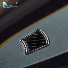 Скорость полета углеродного волокна приборной панели Кондиционер Vent Выход декоративная рамка для BMW 5 серии E60 2005-2010 аксессуары для интерьера