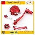 Rojo TAPA de la gasolina de COMBUSTIBLE + red gear shift palanca 50CC 110CC 125CC 150cc 250CC bici de La Suciedad Pit Bike motorcycle accessories envío gratis