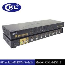 16 ميناء USB HDMI KVM التبديل مع الكابلات ، الكمبيوتر الخادم وحدة محدد مربع forWindows لينكس ماك رف جبل CKL-9138H