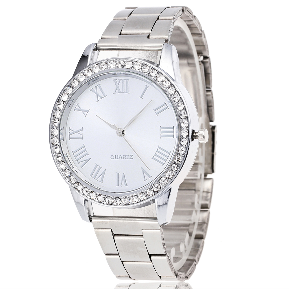 2017 fashion women watches Brand luxury women's silve Stainless steel watch Roman numerals crystal ladies quartz watch clock 2018 new mce brand quartz watches for women fashion roman numerals simple watch casual stainless steel leather strap clock 002