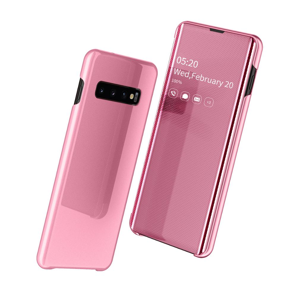 Image 5 - Smart Mirror Flip Phone Case For Samsung Galaxy S9 S10 S8 Plus S10E A30 A50 A70 A750 Clear View Cover For Galaxy Note 10 9 8 Pro-in Flip Cases from Cellphones & Telecommunications