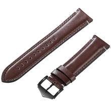 Genuine Leather Watchband Strap With Clasp Bands B
