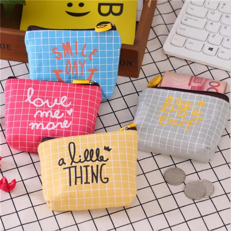 Kreative Einfache Leinwand Lächeln Geldbörse Farbe Cartoon Zipper Karte Pack Schlüssel Fall Mädchen Geldbörse Auswahlmaterialien Kinder- & Babytaschen Gepäck & Taschen