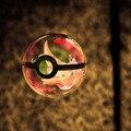 Hy nueva arrivels dragonite pocket monster pokemon 3d bola de cristal 7 colores rotación 3d led luz de la noche lámpara de mesa de escritorio